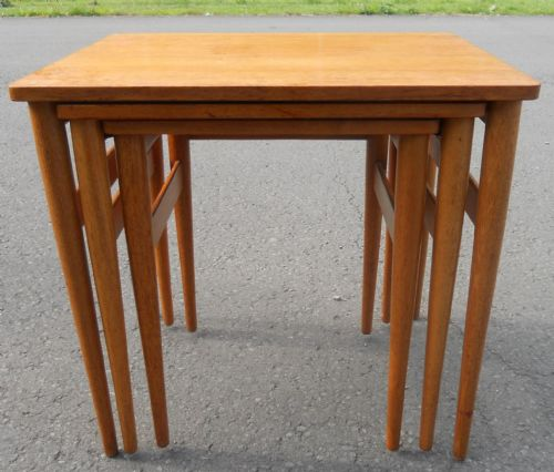 Teak Retro Nest of Three Coffee Tables